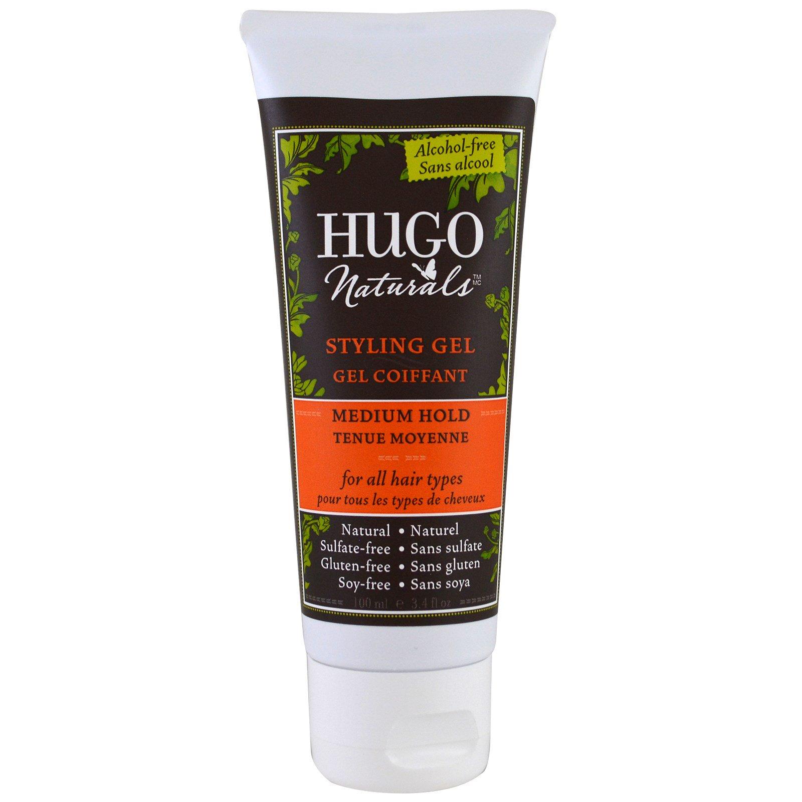 Hugo Naturals, Гель для укладки, средня степень фиксации, 3,4 жидких унций (100 мл)