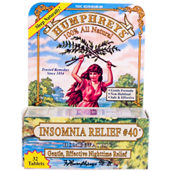 Humphrey's, Insomnia Relief 40, 32 Tablets (Discontinued Item)