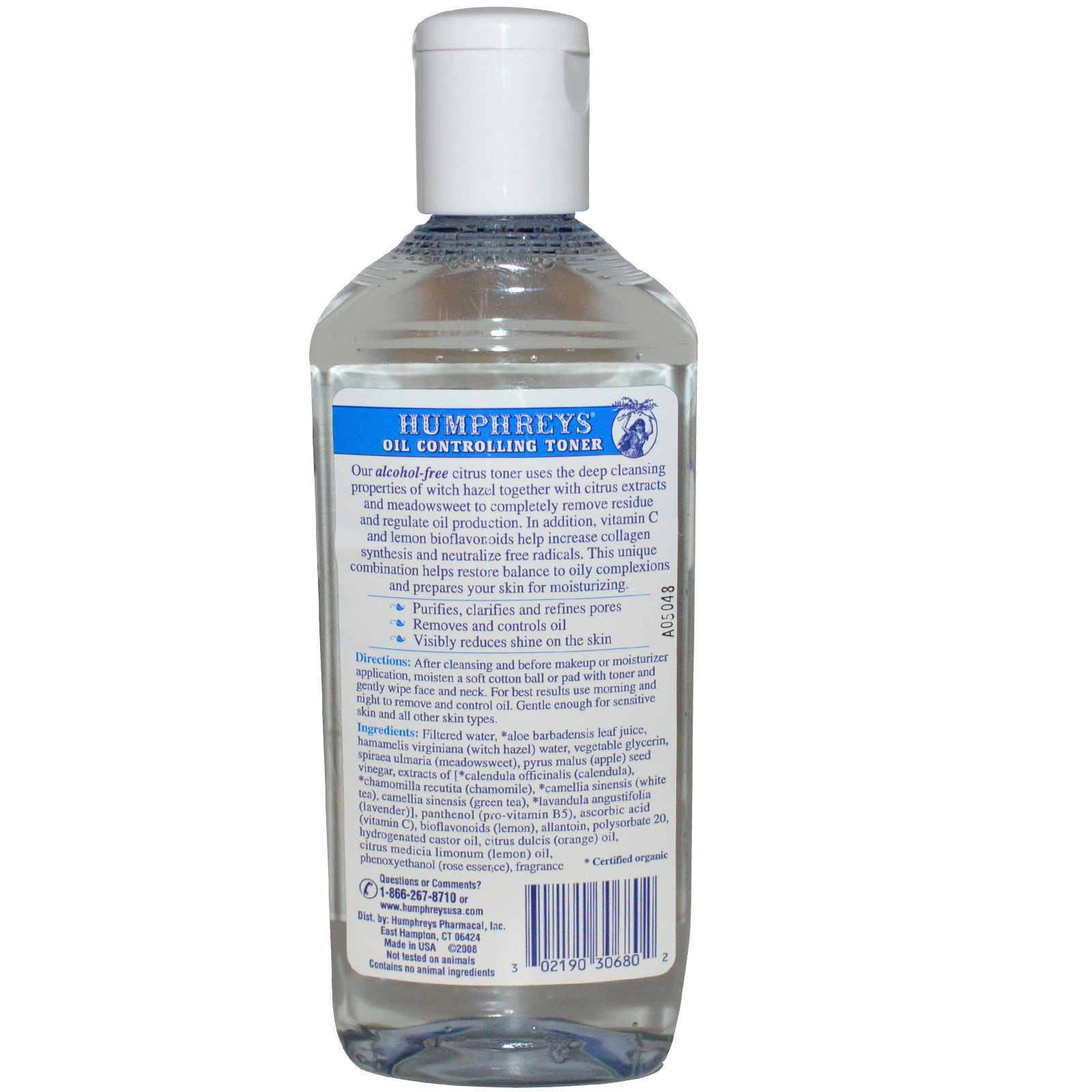 Humphreys Homeopathic Remedy Witch Hazel Facial Toner Citrus - 8 Fl Oz Missha Misa Gumsul Jin Cream 50ml