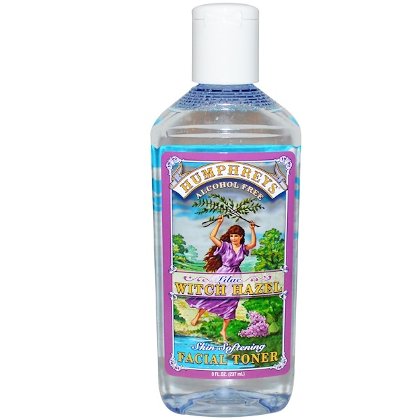 Skin Softening Facial Toner, Lilac Witch Hazel, Alcohol Free, 8 fl oz (237 ml)