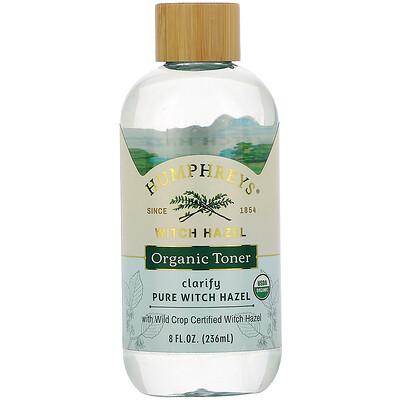 Купить Humphrey's Witch Hazel, Certified Organic Toner, Clarify, 8 fl oz (236 ml)