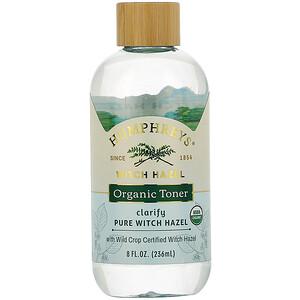 Хампфри, Witch Hazel, Organic Toner, Clarify , 8 fl oz (236 ml) отзывы