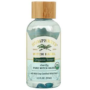 Humphrey's, Witch Hazel, Organic Toner, Clarify, 3.3 fl oz (97 ml)