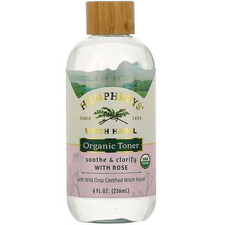 Humphrey's, Witch Hazel, Organic Toner with Rose, Soothe & Clarify, 8 fl oz (236 ml)