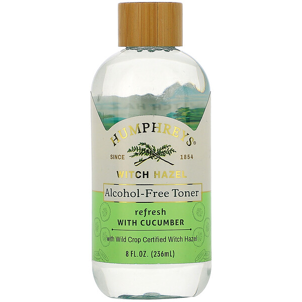 Witch Hazel, Alcohol Free Toner with Cucumber, Refresh, 8 fl oz (236 ml)