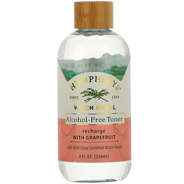 Witch Hazel, Alcohol Free Toner with Grapefruit, Recharge, 8 fl oz (236 ml)