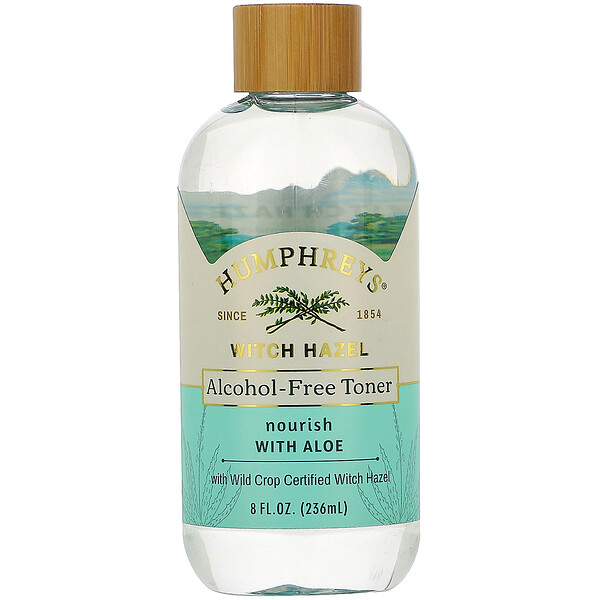 Witch Hazel, Alcohol Free Toner with Aloe, Nourish, 8 fl oz (236 ml)