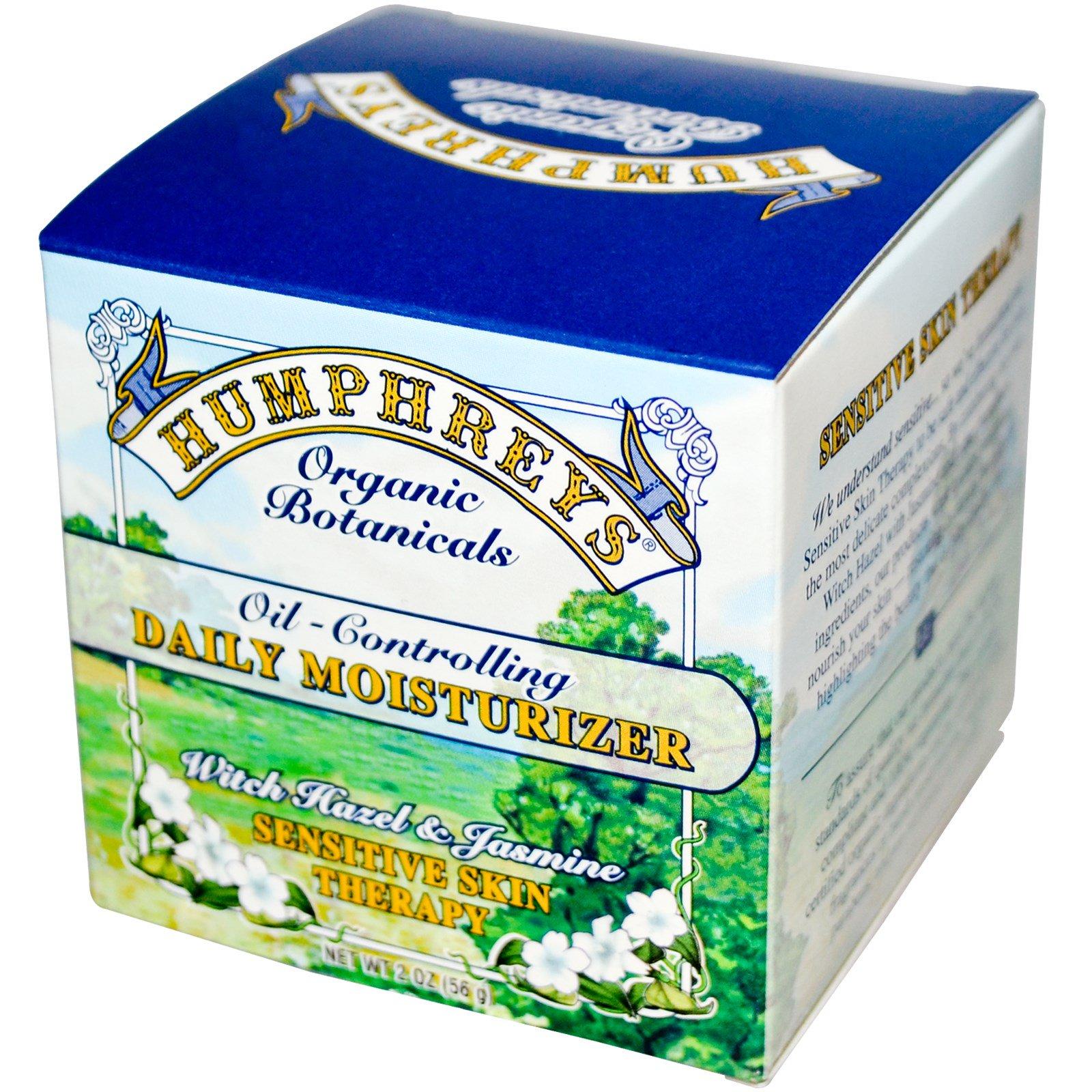 Humphreys Oil Controlling Daily Moisturizer Witch Hazel Jasmine Humphrey Skin Care Activated Charcoal Bodywash 500ml 2 Oz
