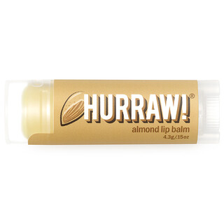 Hurraw! Balm, Lip Balm, Almond, .15 oz (4.3 g)