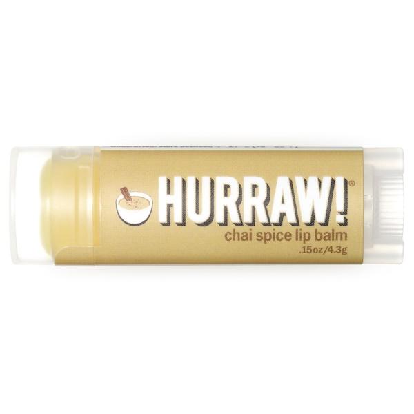Hurraw! Balm, 립 밤, 차이 스파이스, .15 oz (4.3 g)