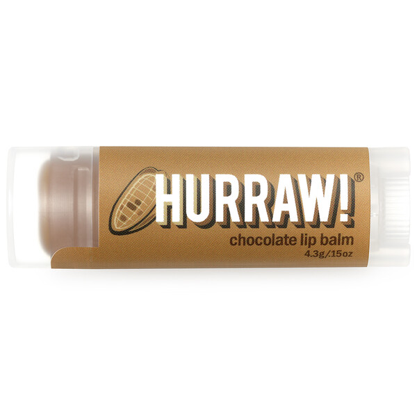 Hurraw! Balm, Lip Balm, Chocolate, .15 oz (4.3 g)