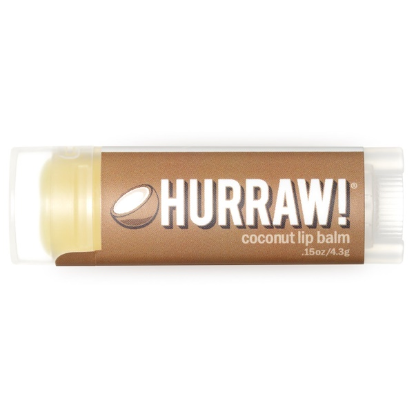Hurraw! Balm, Lip Balm, Coconut, .15 oz (4.3 g)