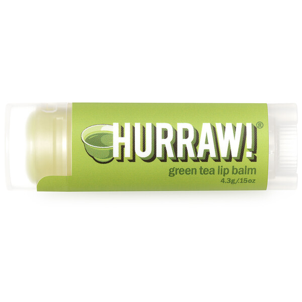 Hurraw! Balm, Lip Balm, Green Tea, .15 oz (4.3 g)