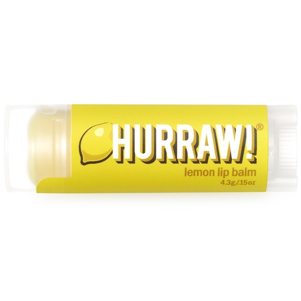 Hurraw! Balm, Lip Balm, Lemon, .15 oz (4.3 g)