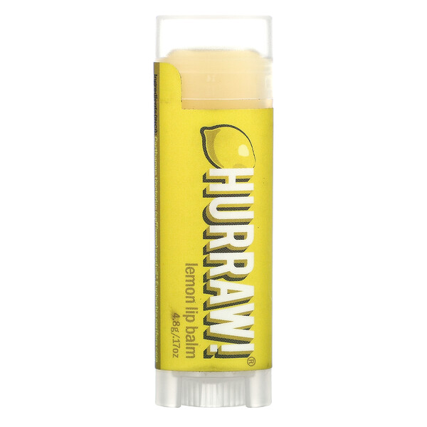 Hurraw! Balm, Lip Balm, Lemon, .17 oz (4.8 g)
