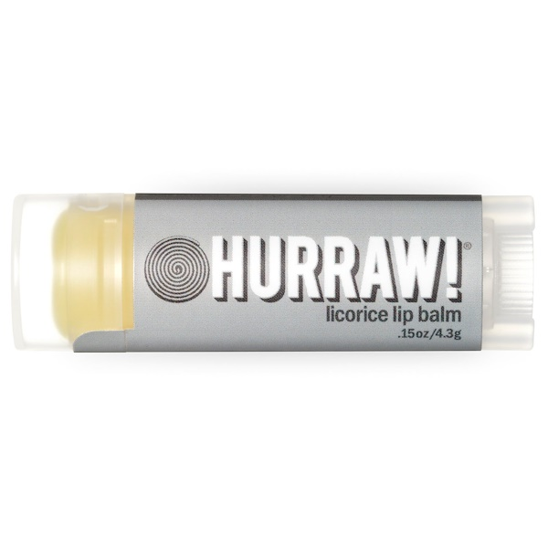 Hurraw! Balm, Licorice Lip Balm, .15 oz (4.3 g)