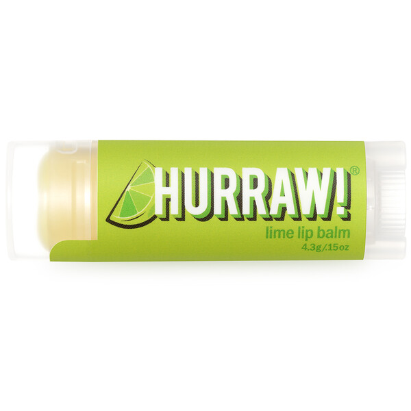Hurraw! Balm, Lip Balm, Lime, .15 oz (4.3 g)