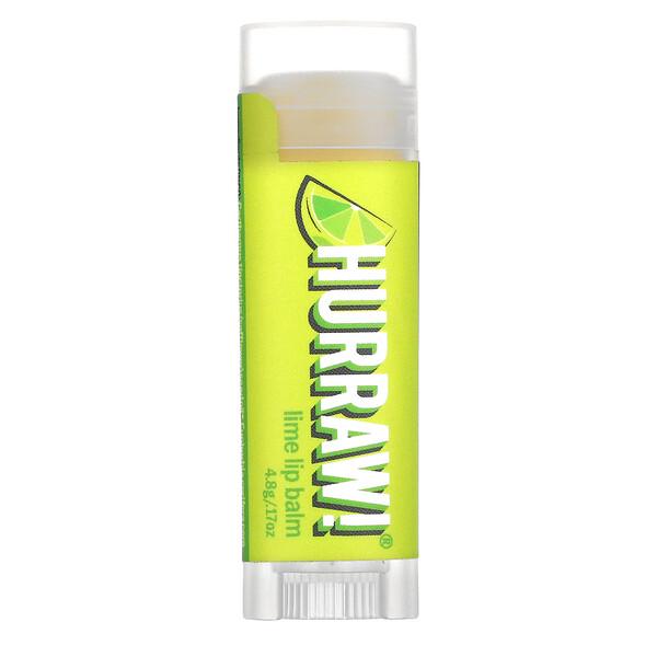 Hurraw! Balm, Lip Balm, Lime, .17 oz (4.8 g)