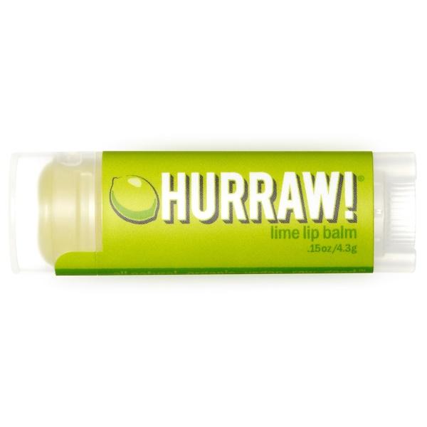 Hurraw! Balm, Lip Balm, Lime, .15 oz (4.3 g)