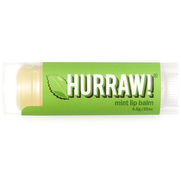 Hurraw! Balm, Lip Balm, Mint, .15 oz (4.3 g)