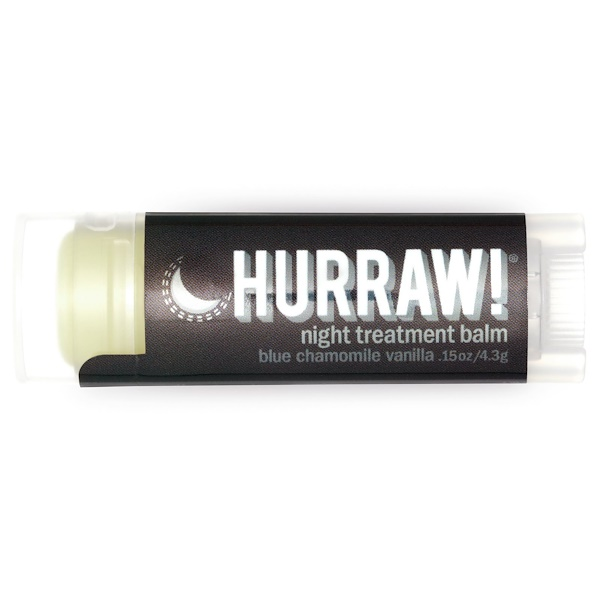 Hurraw! Balm, Night Treatment Balm, Blue Chamomile Vanilla, .15 oz (4.3 g)