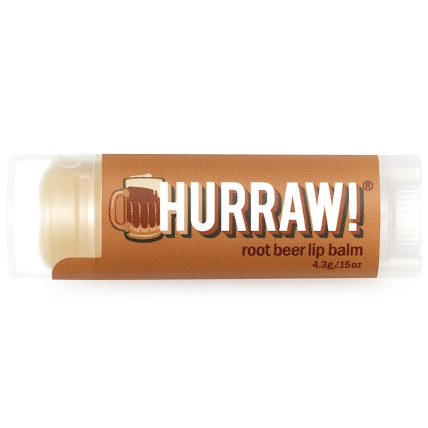 Hurraw! Balm, Lip Balm, Root Beer, .15 oz (4.3 g)