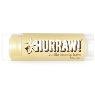 Hurraw! Balm, Lip Balm, Vanilla Bean, .15 oz (4.3 g)
