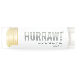 Hurraw! Balm, Lip Balm, Unscented, .15 oz (4.3 g)