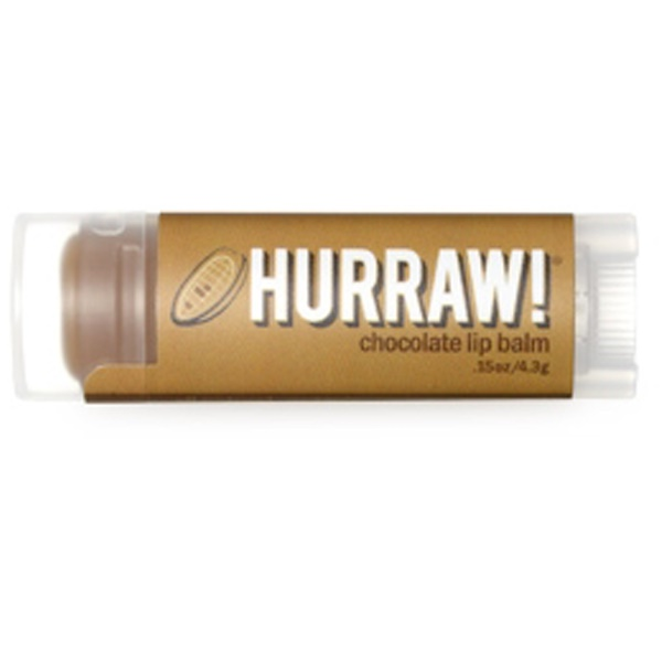 Hurraw! Balm, Lip Balm, Chocolate, .15 oz (4.3 g) (Discontinued Item)