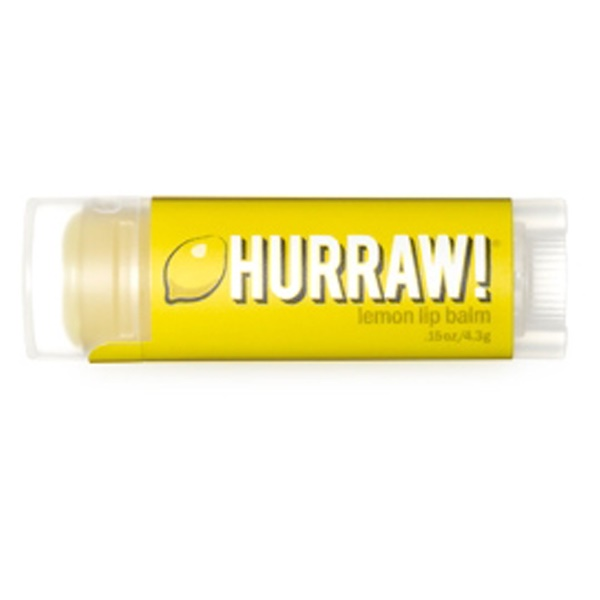 Hurraw! Balm, Lip Balm, Lemon, .15 oz (4.3 g) (Discontinued Item)
