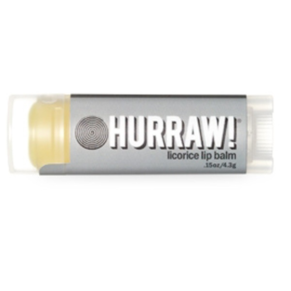 Hurraw! Balm, Lip Balm, Licorice, .15 oz (4.3 g) (Discontinued Item)