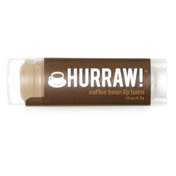 Hurraw! Balm, Lip Balm, Coffee Bean, .15 oz (4.3 g) (Discontinued Item)