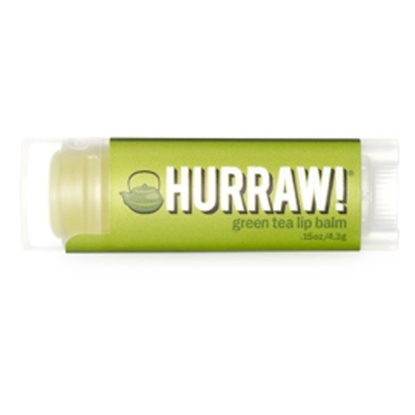 Hurraw! Balm, Lip Balm, Green Tea, .15 oz (4.3 g) (Discontinued Item)
