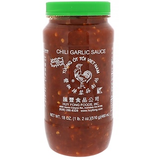 Huy Fong Foods Inc., Chili Garlic Sauce, 18 oz (510 g)