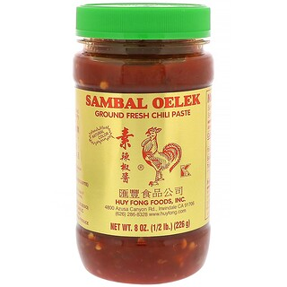 Huy Fong Foods Inc., Sambal Oelek, Ground Fresh Chili Paste, 8 oz (226 g)