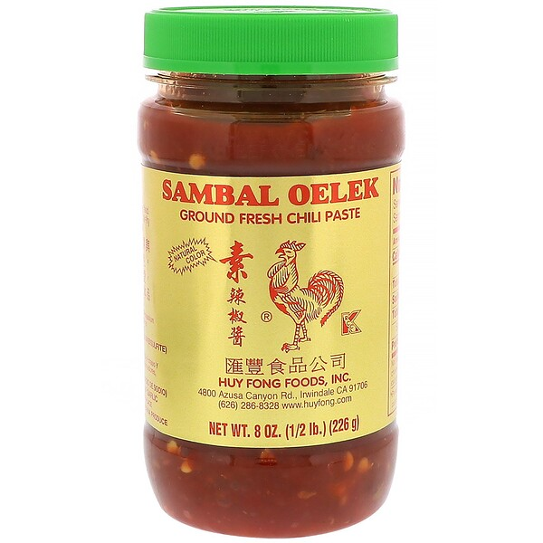 Huy Fong Foods Inc., Sambal Oelek, Ground Fresh Chili Paste, 8 oz (226 g) (Discontinued Item)