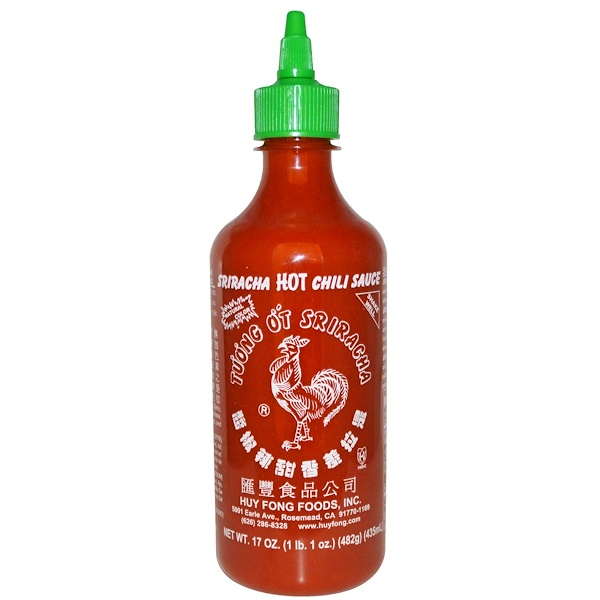 Huy Fong Foods Inc., Sriracha, Hot Chili Sauce, 17 oz (482 g)