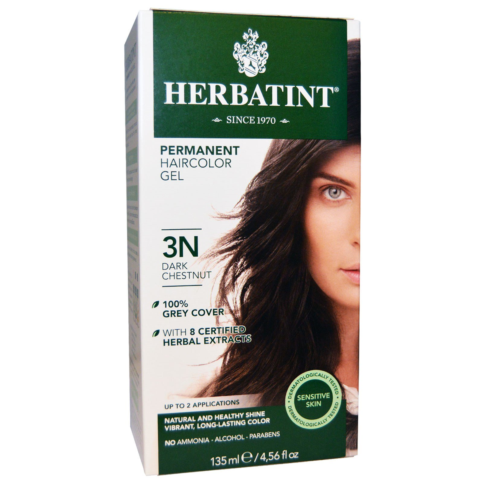 herbatint permanent hair color 3n dark chestnut fl oz 135 ml. Black Bedroom Furniture Sets. Home Design Ideas