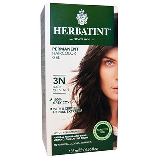 Herbatint, Permanent Hair Color, 3N, Castaño Oscuro, 4.56 fl oz (135 ml)