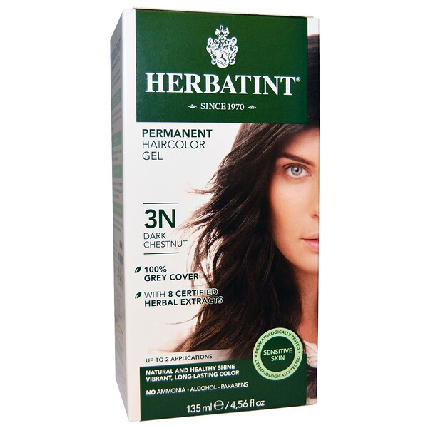 Permanent Hair Color, 3N, Dark Chestnut, 4.56 fl oz (135 ml)
