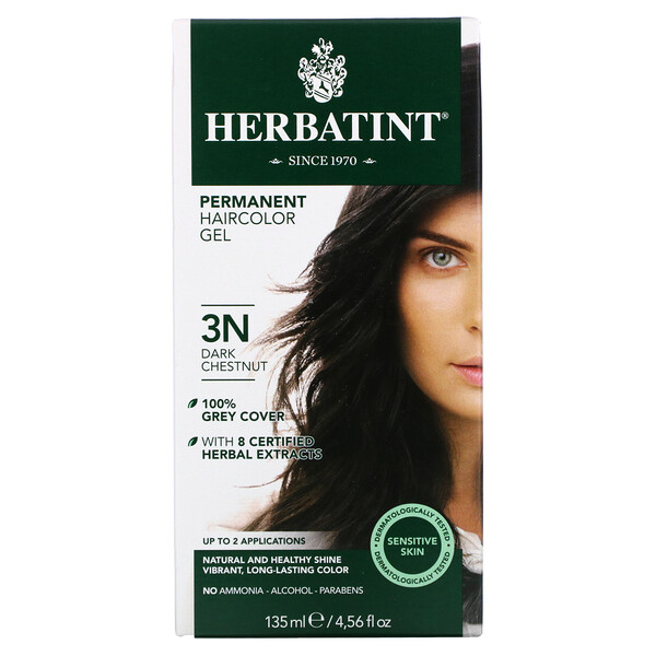 Permanent Haircolor Gel, 3N, Dark Chestnut, 4.56 fl oz (135 ml)