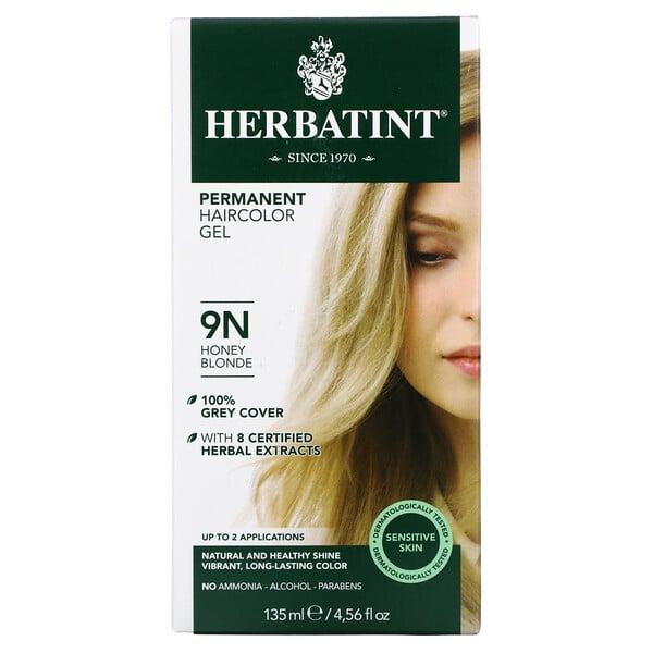 Permanent Haircolor Gel, 9N, Honey Blonde, 4.56 fl oz (135 ml)