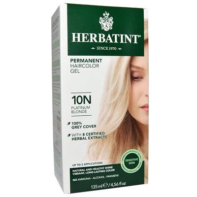 Купить Перманентная краска-гель для волос, 10N, платиновый блондин, 4, 56 жидкой унции (135 мл)