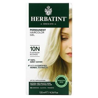 Herbatint, стойкая гель-краска для волос, 10N, платиновый блонд, 135мл (4,56жидк.унции)