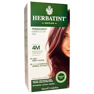 Herbatint, Permanent Haircolor Gel, 4M, Mahogany Chestnut, 4.56 fl oz (135 ml)