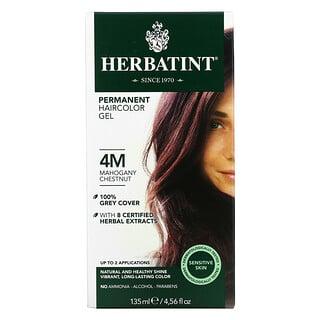 Herbatint, جل صبغة الشعر الدائمة، 4M، ماهوجني بندقي، 4.56 أونصة سائلة (135 مل)