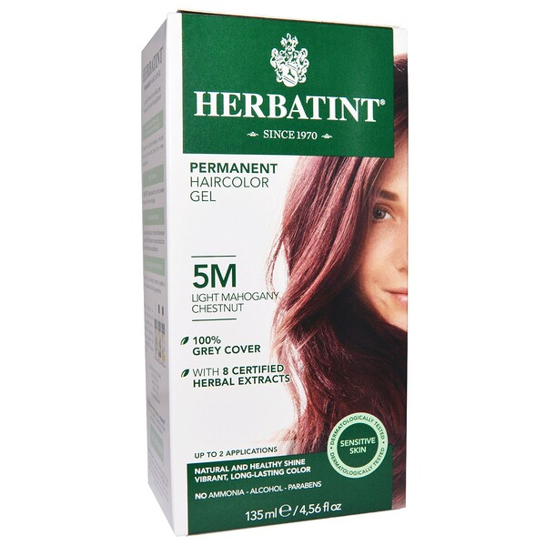 Herbatint, Permanent Haircolor Gel, 5M, Light Mahogany Chestnut, 4.56 fl oz (135 ml)