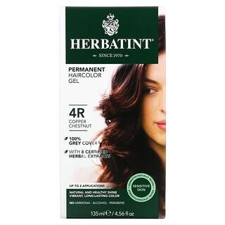 Herbatint, Permanent Haircolor Gel, 4R, Copper Chestnut, 4.56 fl oz (135 ml)