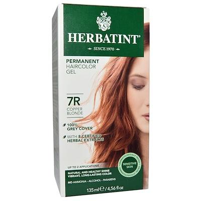 Перманентная краска-гель для волос, 7R, медный блондин, 4,56 жидкой унции (135 мл) укрепляющий гель для лица 1 69 жидкой унции 50 мл