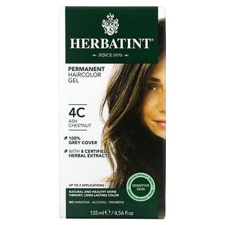 Herbatint, Permanent Haircolor Gel, 4C, Ash Chestnut, 4.56 fl oz (135 ml)